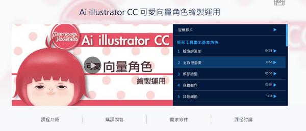 Ai illustrator CC 可愛向量角色繪製運用