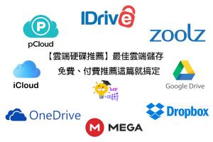 【雲端硬碟推薦】2020最佳雲端儲存,免費、付費推薦這篇就搞定