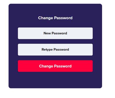 輸入新的密碼