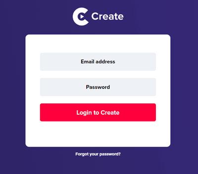 Create登入畫面