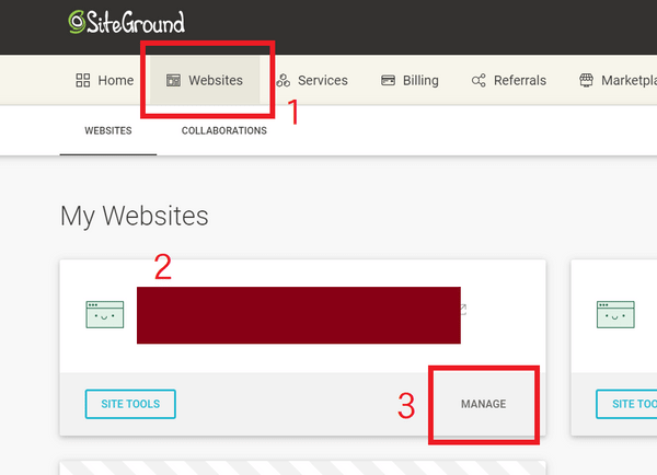 從Siteground介面登入WordPress