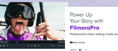 FilmoraPro 首頁
