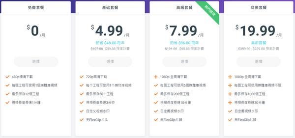 Flexclip方案與價格