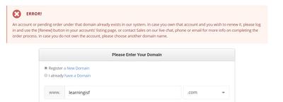 Siteground錯誤網域