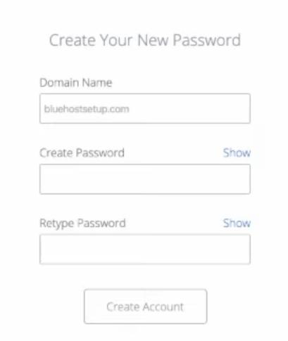創造Bluehost專屬密碼
