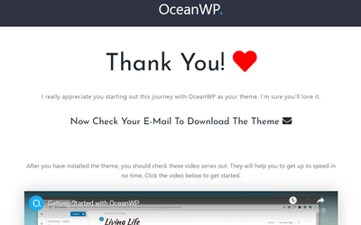 感謝你選擇OceanWP