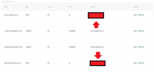 改變DNS指向