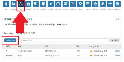 新增DNS紀錄