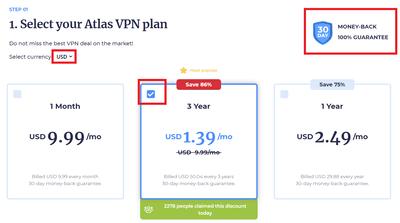 購買Atlas VPN方案